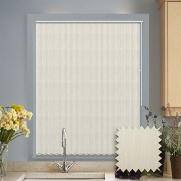 Made to measure vertical blind in Saintbury Cream Fabric